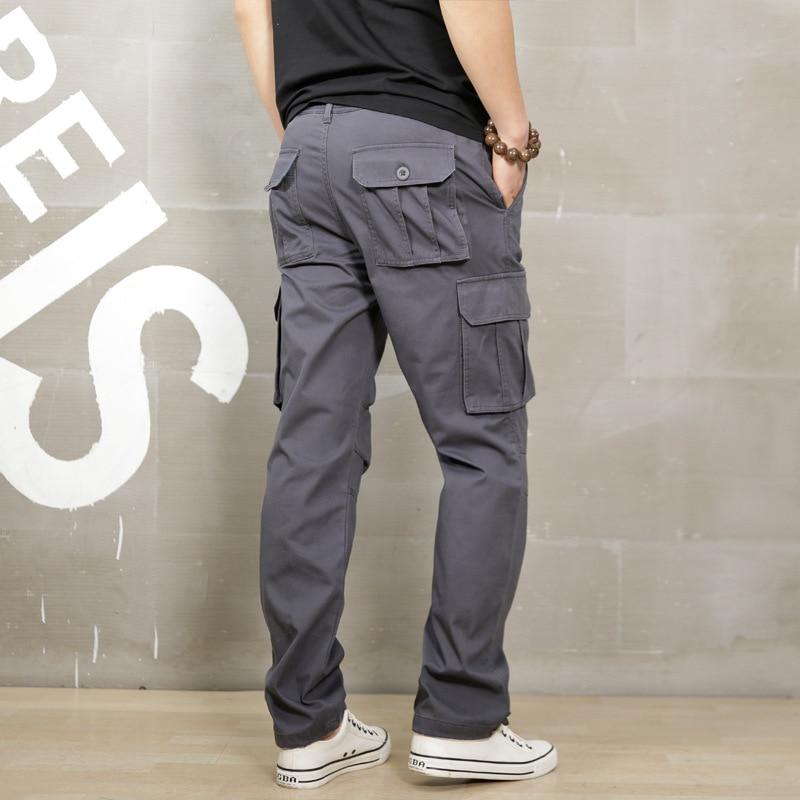 ICPANS Cargo Pants Loose Black Khaki Cargo Pants Men Elastic Waist Casual Pants Men Work Summer 2018 Male Trousers Big Size