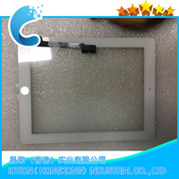 20Pcs/lot Touch Screen Glass Digitizer Assembly for iPad 3 4 with home button+ Adhesive Glue Sticker Replacement Repair Parts