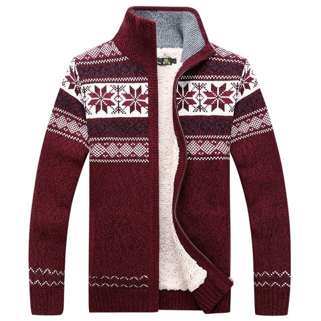 AFS JEEP / Battlefield Jeep 2016 warm thick velvet zipper cardigan sweater autumn and winter coat collar jacket men loose 120