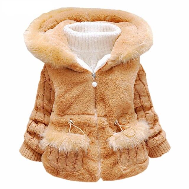 6546dcc5b Children Winter Coats Knitted Jacket Infant Overcoat Children s Down ...