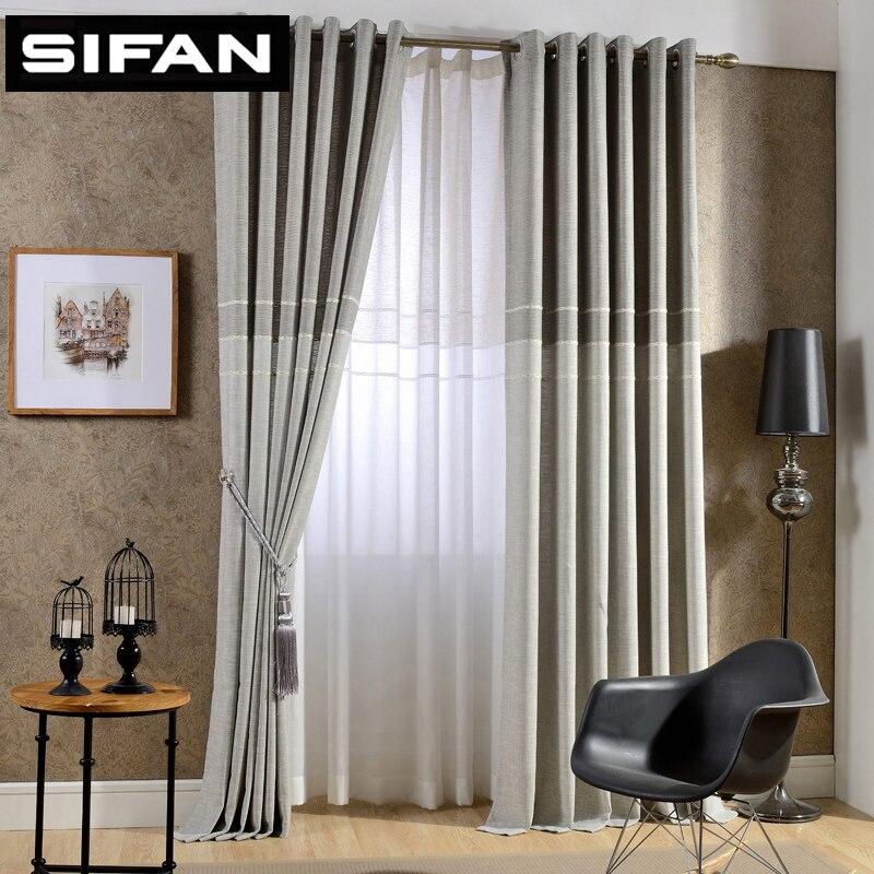 Japan Stil Dicke Faux Leinen Jacquard Vorhange Fur Wohnzimmer Fur