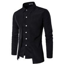 2018 Tuxedo koszule męskie nieregularna modna bawełna oddychające wygodne koszule bluzki styl angielski skrócone koszule kołnierzykowe tanie tanio XUQIANJIN COTTON NYLON Rayon Akrylowe Włókno poliestrowe Pełna Skręcić w dół kołnierz Anglia styl Batik 0132 Stałe