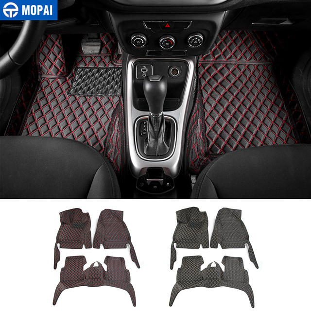 Mopai Leather Car Interior Accessories Floor Mats Carpets Foot Pads
