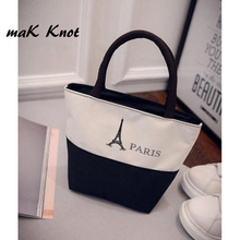 MAK KNOT New bag girl canvas handbags personalized cartoon women lunch bag mini lady  mobile phone bag small bag