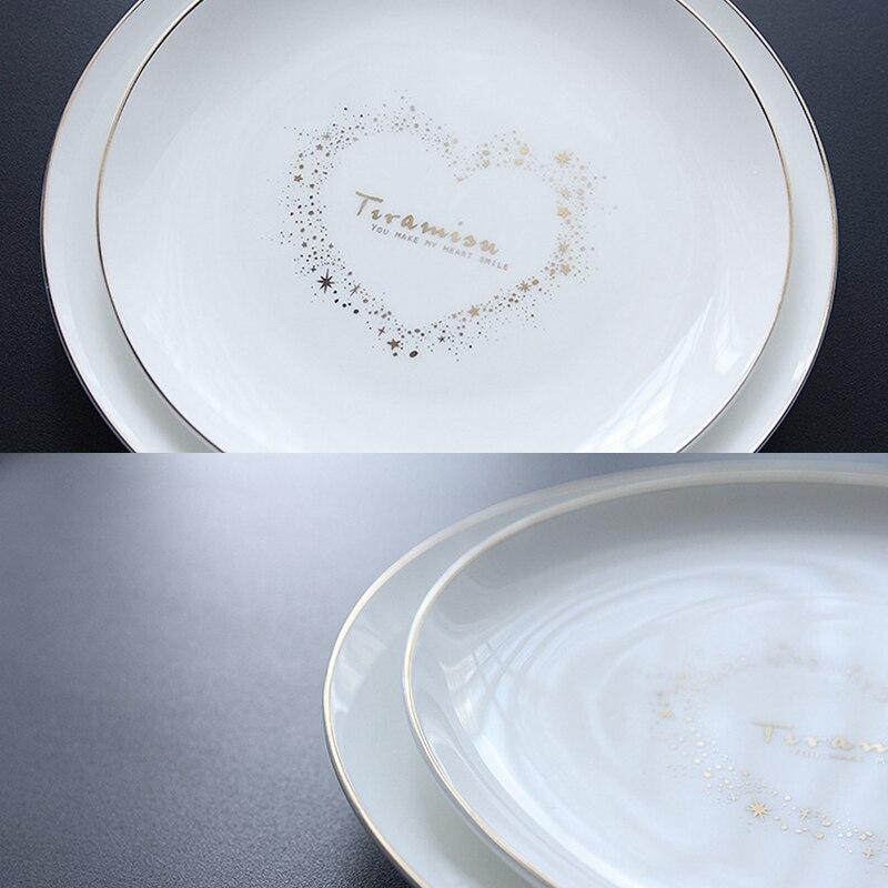 Set of 2 Ceramic Dinner Plate Valentine Love Dinner Dishes Pasta Steak Dessert Plates Fine Bone China Tableware (21.6/18.2cm)-in Dishes \u0026 Plates from Home ... & Set of 2 Ceramic Dinner Plate Valentine Love Dinner Dishes Pasta ...
