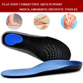 Hiking Walking Orthopedic Insoles Flat Foot Orthotic Man Women Shoes Arch Support Cushion Feet Care Insert Health EVA Pad Insole