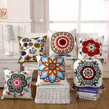 Nueva llegada de la venta caliente del bordado cojín almohada funda de almohada para la decoración casera (no incluye relleno) 45*45 cm