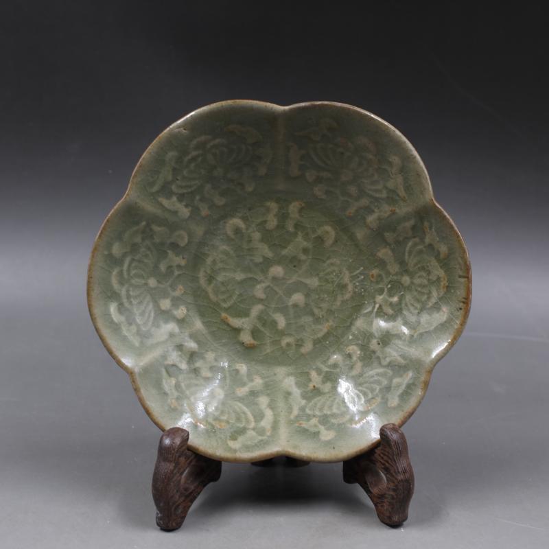 ancienne assiette chinoise en porcelaine petit plat du four de yaozhou decoration de la maison collection et ornement livraison gratuite