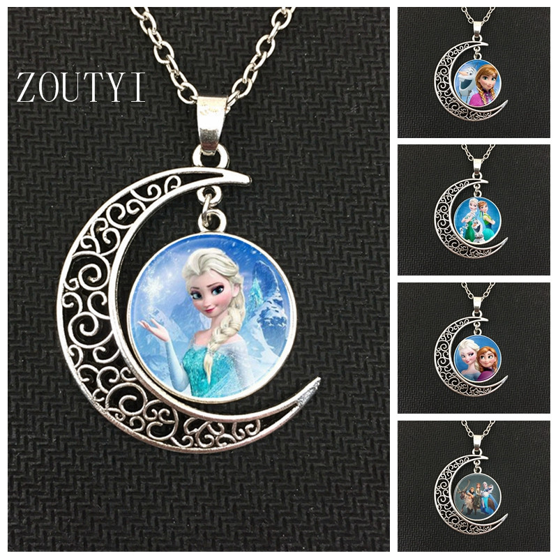 Snow Queen Diamontrigue Jewelry: 2018 / Fashion Charm Snow Queen Moon Crystal Concave Round