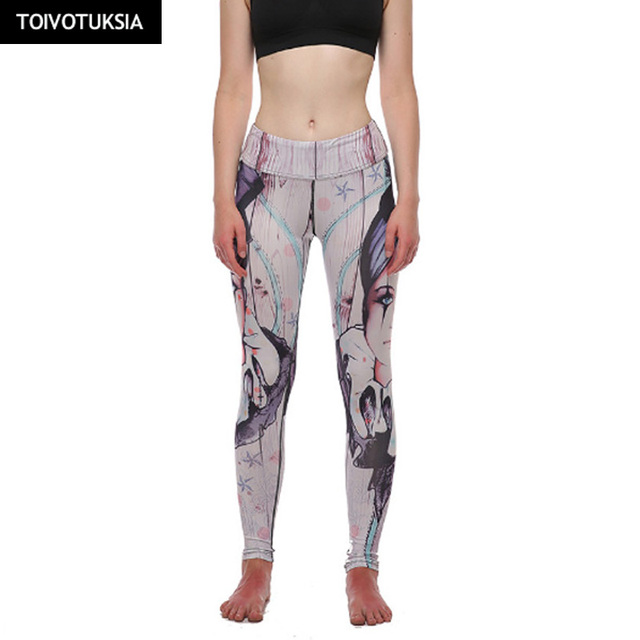 c820611eb109c TOIVOTUKSIA Woman 3D Prints High Waist Running Fitness Sport Leggings Yoga  Pants Fitness Jogging Leggings Woman Sport Tights