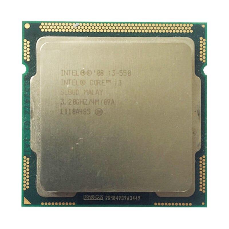Intel core i3 550 cpu lga1156 soquete/3.2 ghz/l3 4 mb/processador duplo-núcleo tdp-73 w/tem uma venda de 1156x3440x3450x3470