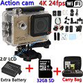 [32GB+Bag+Extra Battery] 4K 24fps HD Sports Action Video Camera DV Novatek 96660 WiFi 2.0inch LCD Diving Action Helmet Cam 8000