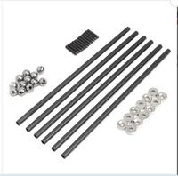 DuoWeiSi 3D Printer Parts 200MM 4x6 MM Diagonal Push Rod L200 With Magnetic Ball Joint And