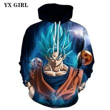 Hoodie Dragon Ball Z Super Saiyan 3d Printed Hoodies Men/Women Goku Hooded Sweatshirt Polyester Hoodies Pullover Outerwear цена