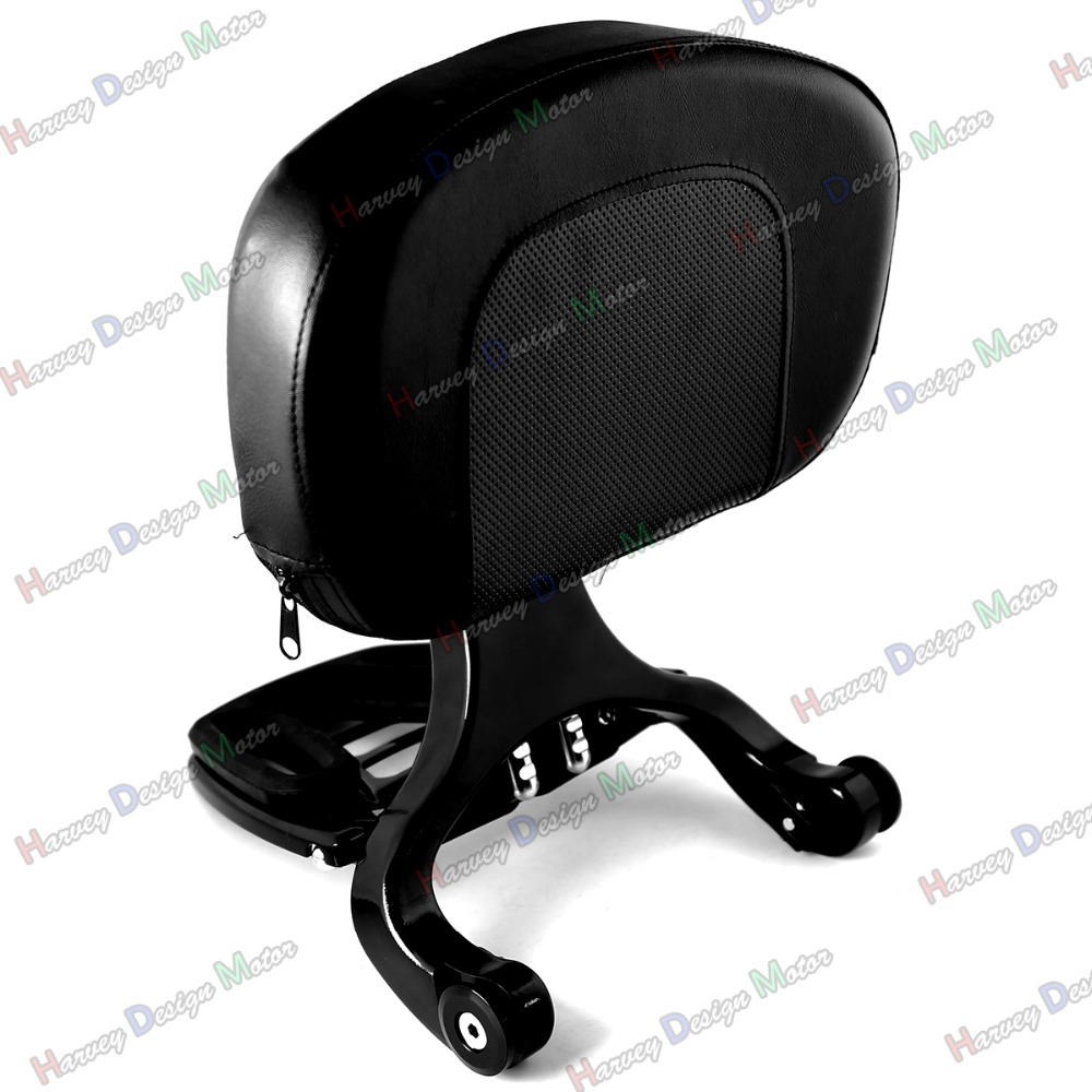 Black Multi Purpose Adjustable Driver & Passenger Backrest For Harley Touring Street Glide Road King 09-13 купить в Москве 2019