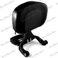 Black Multi Purpose Adjustable Driver & Passenger Backrest For Harley Touring Street Glide Road King 09 13