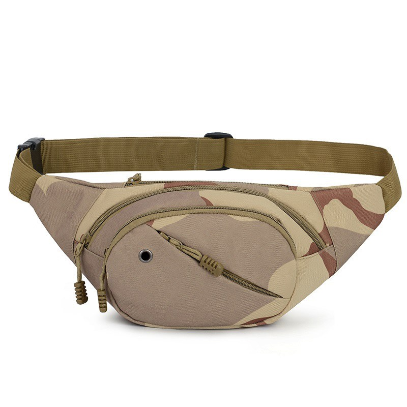Tactical Canvas Cycling Waist Fanny Pack Belt Bag Hip Purse Mens Women Military Hiking Running Traveling Daily Life Sports Bag