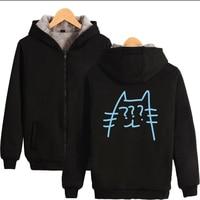 SEVENTEEN 17 Group Korean Women's Kawaii Winter Thick Coats Couples Cotton Hoodies Kpop Harajuku Hip Hop Zipper Sweatshirts Tops