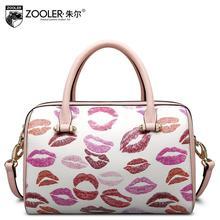 free delivery   Women bag   2016 new red lips printing Shoulder Messenger Bag Fashion handbags Boston bag