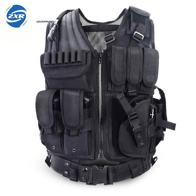 Unloading Police Tactical Hunting Vest Outdoor Camouflage Military Body Armor Sports Wear Vest Army Swat Molle Vest Black 1pc used omron c200h bc051 v2 floor plc