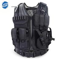 Unloading Police Tactical Hunting Vest Outdoor Camouflage Military Body Armor Sports Wear Vest Army Swat Molle Vest Black