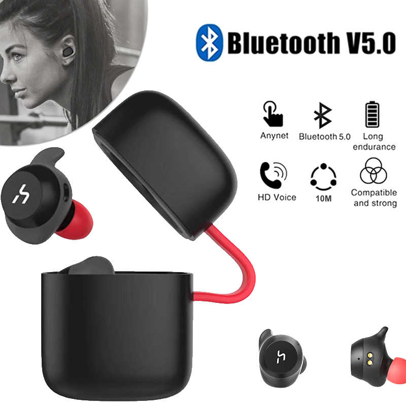 f7a239b5332 HAVIT TWS Bluetooth Earphone True Wireless Sport Earphone Waterproof Stereo  Earbuds With Microphone for Handsfree Calls