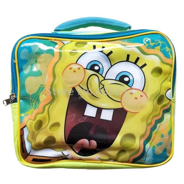 Spongebob Lunch Bag For Kids Boys S Children School Box Cartoon Insulated Lunchbag Lunchbox Picnic