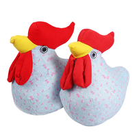 JueJue New Kawaii Cock Cloth Doll Plush Toys Children Plush Toys Gifts New Creative Home Decor