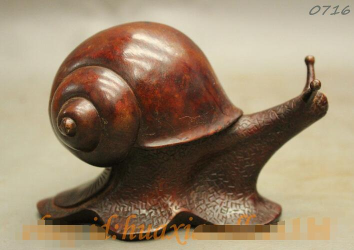 China handmade antique bronze Lucky  Snail Figurines Statues