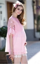 Pregnant Women Maternity Summer Clothing Short sleeved T shirt Loose Chiffon European And American Models Maternity