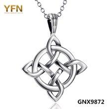 GNX9872 Nueva Collares Genuino 925 Plata Esterlina Infinito Nudo Colgante de Collar de Plata Antiguo Del Encanto Del Collar Para Las Mujeres