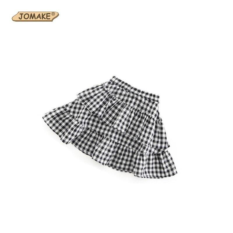 שחור ולבן משובץ חצאיות חמודה בנות ראפלס טוטו חצאית בגדי תינוקת מקרית אלסטיים מותן ילדים חצאיות לילדות תחפושות