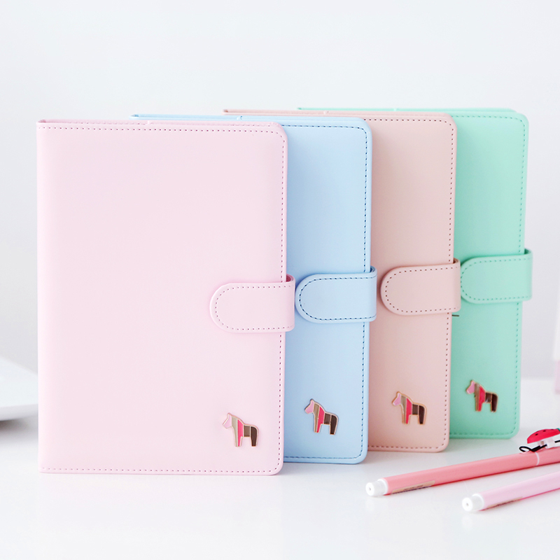 Korean Kawaii Cute Colorful Pages Plan Daily Weekly Monthly Yearly Planner Agenda Dairy Macaron Cover Notebook 2018 Organizer A5 girly notebook stationery suit clips pens daily plan agenda sticky notes great value planner organizer set cute journals series