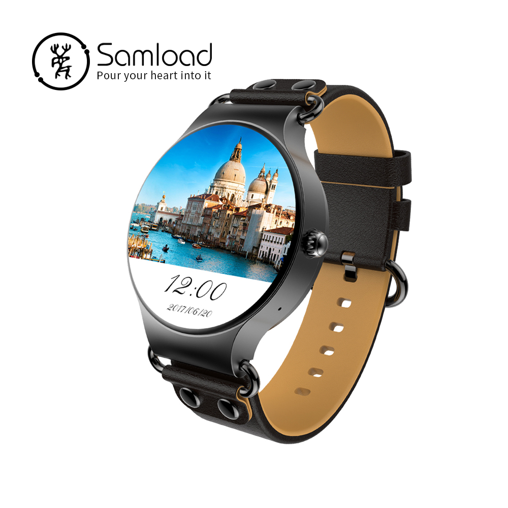 Samload KW98 Smart Watch Android 2/3G WIFI GPS Bluetooth Wristband Anti-lost Heart rate FOR iPhone6 7 8 Android Samsung Xiaomi