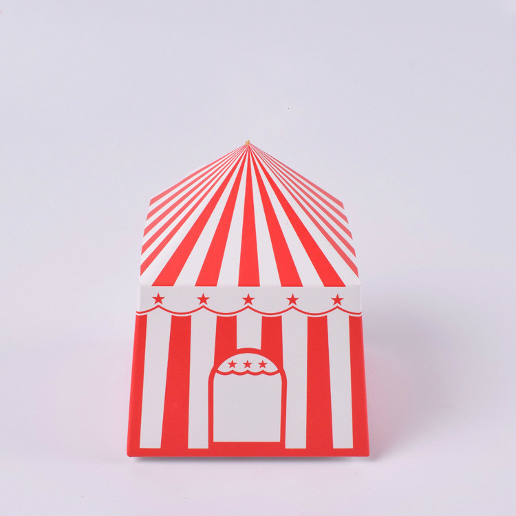 100 Pcs Paper gift box for wedding Party kid Birthday Creativity Yurt shape chocolate candy Box Gift Paper Packaging Cardboard in Gift Bags Wrapping Supplies from Home Garden