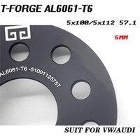 2 UNID 5x100/5x112 3/5/8mm 57.1mm de Aluminio de Aleación de Forja Espaciador de la rueda juego para A1/A2/A3/A4 (B5, B6, B7)/A6/A8/TT//ALLROAD Quattro