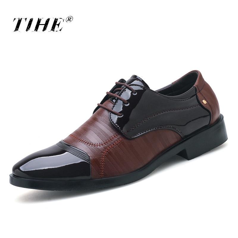 Zapatos Hombres La Negocios Calzado Más Moda marrón Size38 Suave Casuales Cuero De Hombre Negro 48 Los Negro 2019 Oxfords YqtxXEX