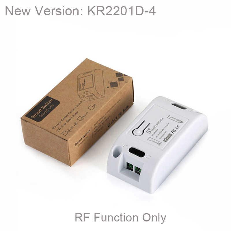 QACHIP 433 MHz ไร้สายรีโมทคอนโทรลสวิตช์ AC 110V 220V 1CH รีเลย์ตัวรับสัญญาณ + แผงเครื่องส่งสัญญาณ 433 MHz RF รีโมทคอนโทรล