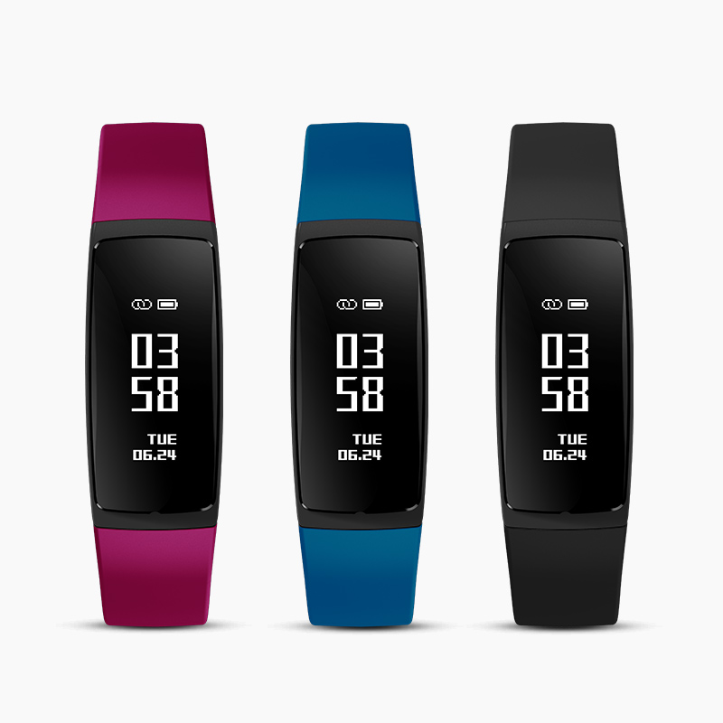 V07S Smart Fitness Bracelet With Female Physiological Reminder Watches Blood Pressure Heart rate monitor Smart Wristband