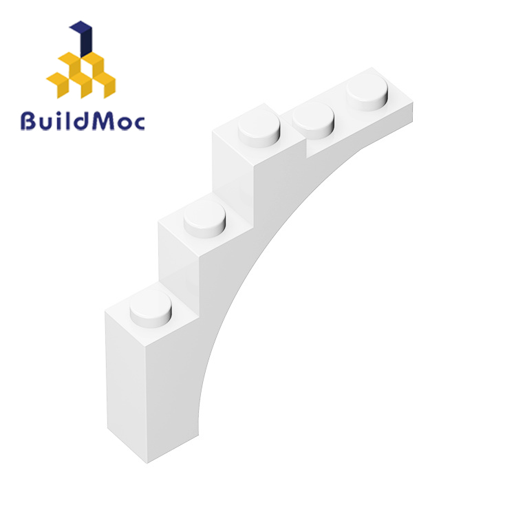 BuildMOC 76768 14395 1x5x4 Curved Brick Technic Changeover Catch For Building Blocks Parts DIY Educational Creative Gift Toys