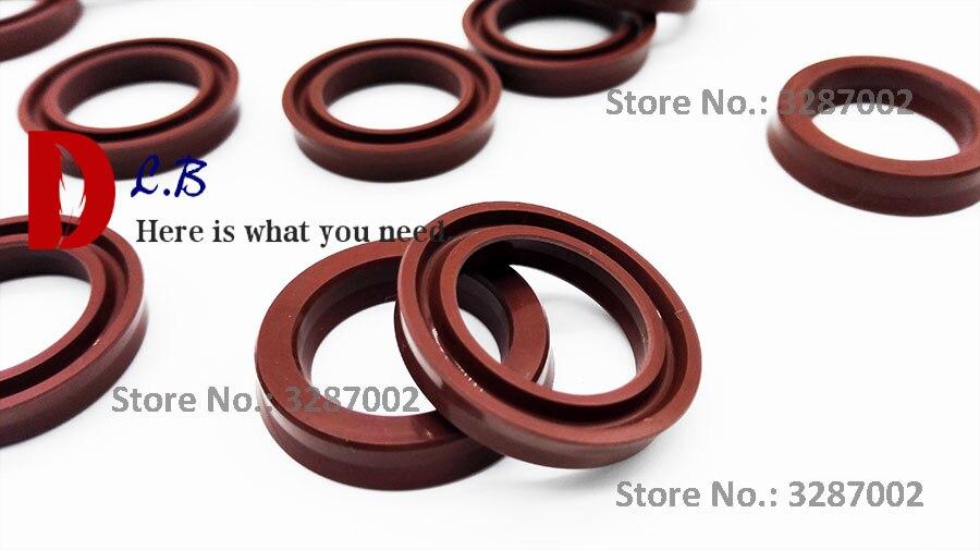 USH FPM18X26X5/16x24x5/16X22X4/40X50X10 Hydraulic Cylinder Pump Rubber Oil Seal For Piston And Rod U Cup FKM/Viton U Buffer