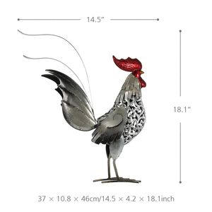 Image 5 - Tooarts Metal Statuettes Iron Rooster Home Decor Modern Articles Figurine Colorful Craft Gift For Home Decoration Accessories
