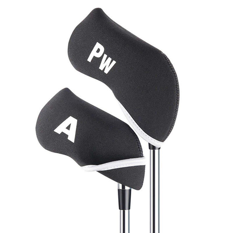 10Pcs Golf Club Head Covers Iron Putter Protective Head Cover Putter Headcover Set Outdoor Sports Golf Accessories Outdoor Tools