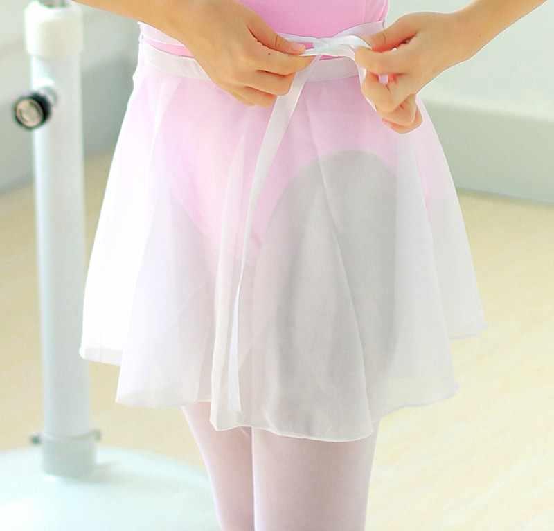 Ballet Dans Rok Volwassen Kinderen Chiffon Pure Kleur Bloemenprint Praktijk Turnpakje Dans Kostuum Volwassen Ballet Dansen Jurk