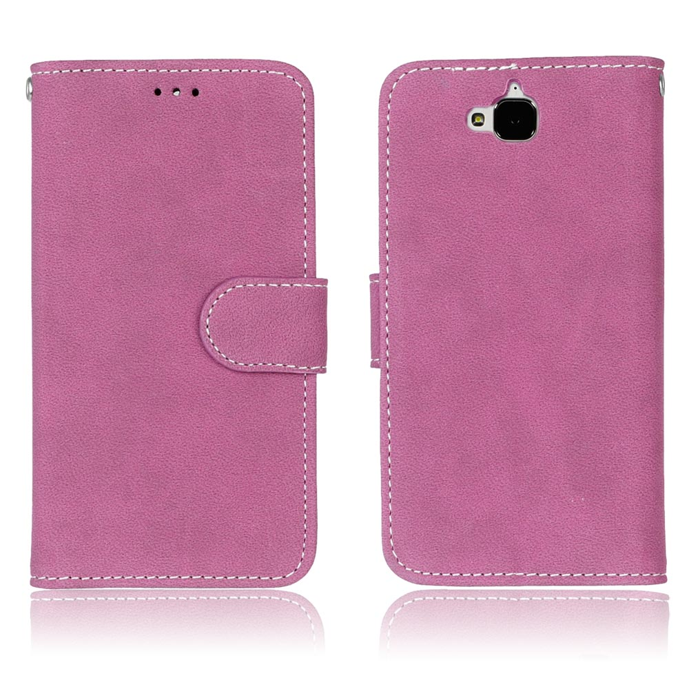 New Luxury PU Leather Flip Wallet <font><b>Cell</b></font> <font><b>Phone</b></font> Case Cover For <font><b>Huawei</b></font> Enjoy 5/<font><b>Y6</b></font> PRO Case Shell Frosted Back Cover Case Card Holder
