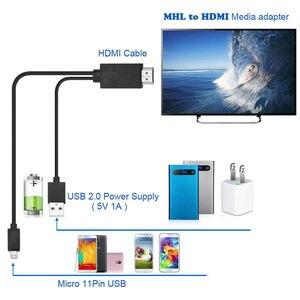 Image 3 - ミニ 1080 1080p mhlマイクロusb hdmiケーブル変換アダプタandroidの電話/pc/tvオーディオアダプタhdtvアダプタ