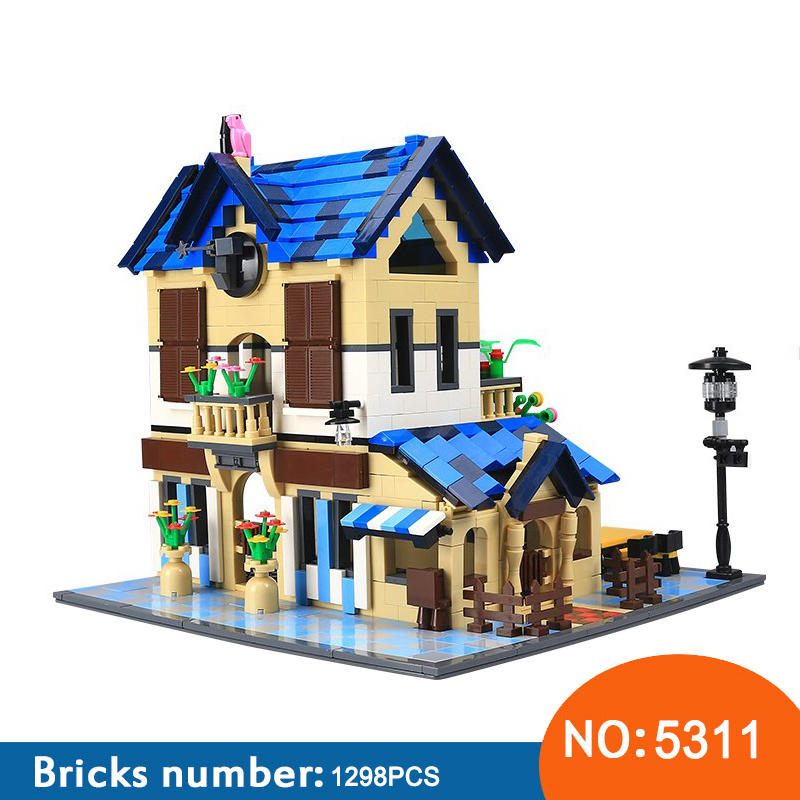 купить Wange 5311 1298PCS Architecture series the Rural villa Building Blocks set Classic MOC house Toys for Children Gifts по цене 2494.35 рублей