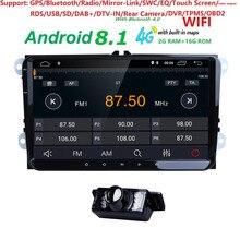 """2 GB di RAM 2 Din 9 """"Car Stereo Radio Per VW/Volkswagen/POLO/PASSAT/Golf /Skoda/Octavia/Seat No-DVD WIFI di Navigazione GPS + Macchina Fotografica Gratuita"""