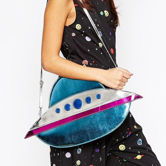 2016 design de mode personnalité unique forme sous-marin fusée UFO enveloppe embrayage sac d'épaule sac messenger sac dames sac à main
