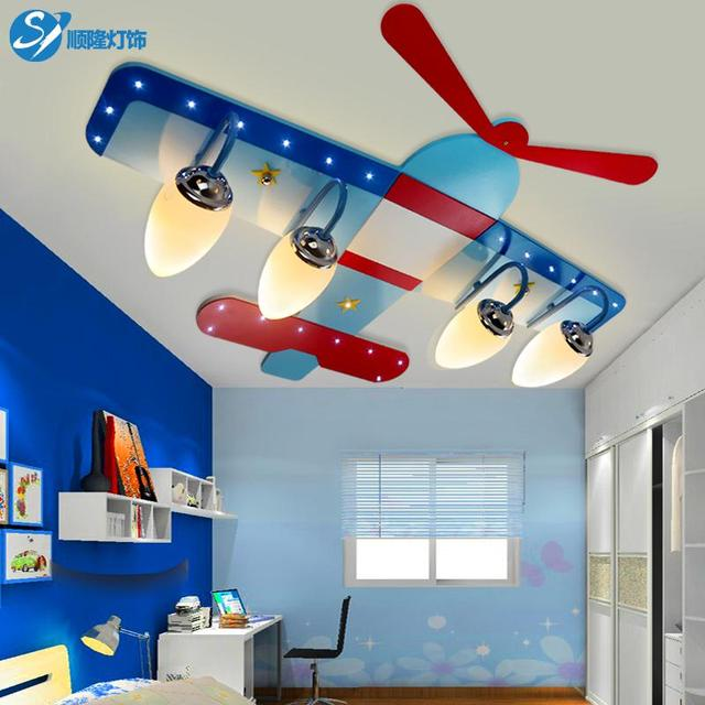 Children S Room Ceiling Lamp Light Boy Creative Cartoon Plane Led Eye Bedroom Et61